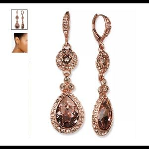Givenchy bronze crystal earrings